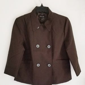 Baccini NWT brown wool blend jacket